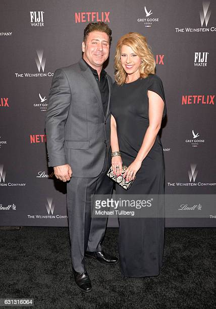 Justin Hodak and actress Jodie Sweetin attends The Weinstein Company and Netflix Golden Globe Party on January 8 2017 in Los Angeles California