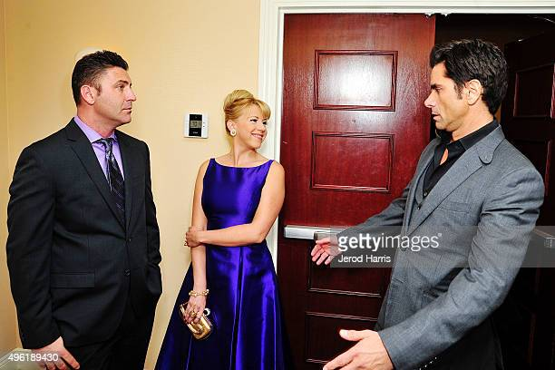 Justin Hodak Jodie Sweetin and John Stamos attend the 2nd Annual Goodwill Gala at Laguna Cliffs Marriott on November 7 2015 in Dana Point California