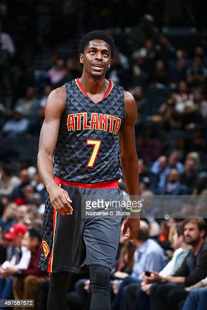 Justin Holiday of the Atlanta Hawks during the game against the Brooklyn Nets on NOVEMBER 17 2015 at Barclays Center in Brooklyn New York NOTE TO...