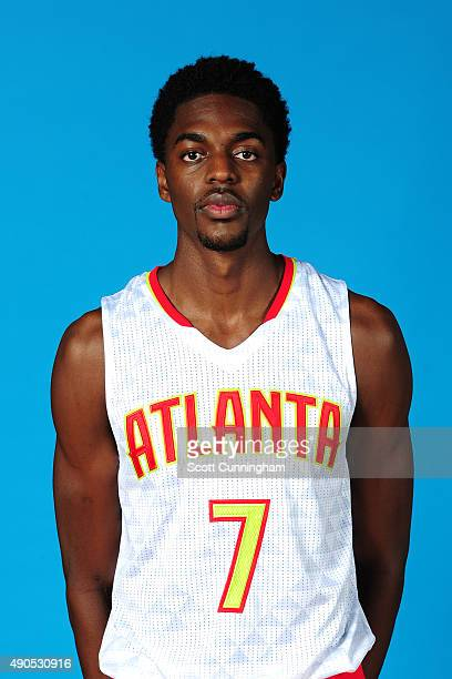 Justin Holiday of the Atlanta Hawks poses for a photo during media day on September 28 2015 at Philips Arena in Atlanta Georgia NOTE TO USER User...
