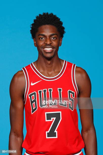 Justin Holiday of the Chicago Bulls poses for a head shot during NBA Media Day on September 25 2017 at the Advocate Center in Chicago Illinois NOTE...