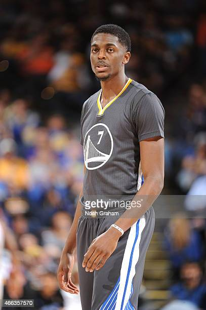 Justin Holiday of the Golden State Warriors in a game against the New York Knicks on March 14 2015 at Oracle Arena in Oakland California NOTE TO USER...