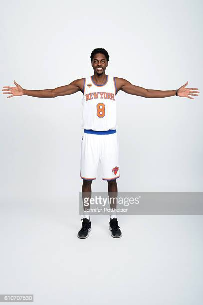 Justin Holiday of the New York Knicks poses for a portrait during media day at the Ritz Carlton in White Plains New York on September 26 2016 NOTE TO...