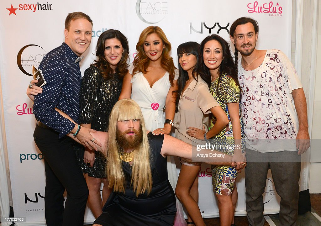 Justin Howard, Molly Sloat, P'Trique, Toni Ko Founder & Chief Creative Director NYX Cosmetics, Natalie Alcala, Susan Yara and William Lemon attend the NYX Cosmetics FACE Awards at Beautycon at Siren Studios on August 24, 2013 in Hollywood, California.