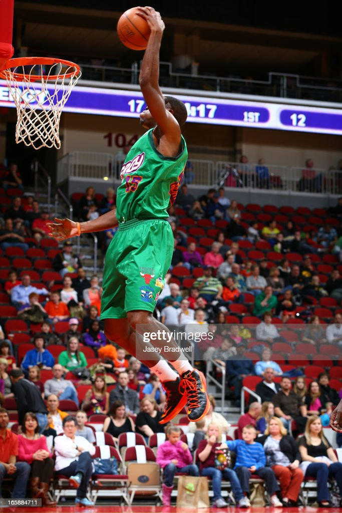 Justin Hurtt #15 of the Iowa Energy goes to the basket against the Sioux Falls Skyforce in an NBA D-League game on April 6, 2013 at the Wells Fargo Arena in Des Moines, Iowa.