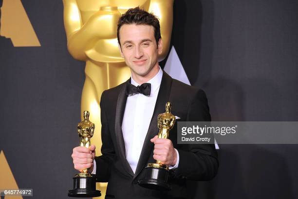 Justin Hurwitz attends the 89th Annual Academy Awards Press Room at Hollywood Highland Center on February 26 2017 in Hollywood California
