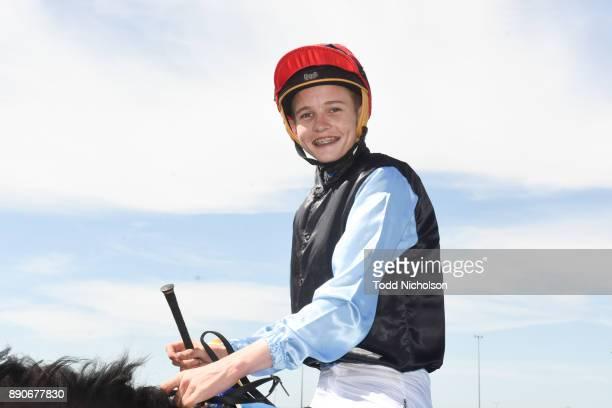 Justin Huxtable returns after winning the Premier Speedway FM BM58 Handicap at Warrnambool Racecourse on December 12 2017 in Warrnambool Australia