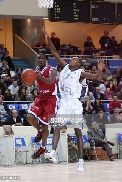 Justin INGRAM / Prosper KARANGWA Paris Levallois / Bourg en Bresse Championnat de France Pro B Saison 20082009 Stade PierredeCoubertin Paris France