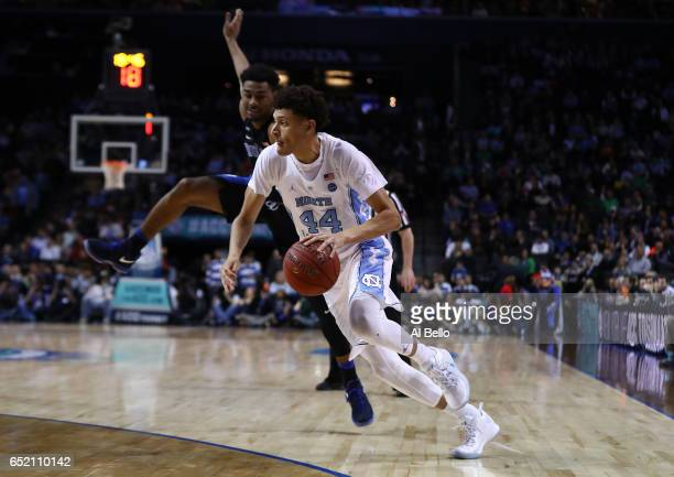 Justin Jackson of the North Carolina Tar Heels in action against the Duke Blue Devils during the Semi Finals of the ACC Basketball Tournament at the...