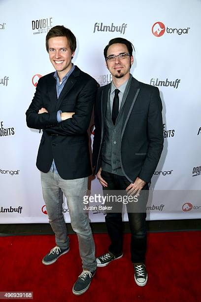 Justin Johnson and Jake Lloyd attend the Los Angeles Premiere of Justin Johnson's 'Double Digits The Story Of A Neighborhood Movie Star' at Downtown...