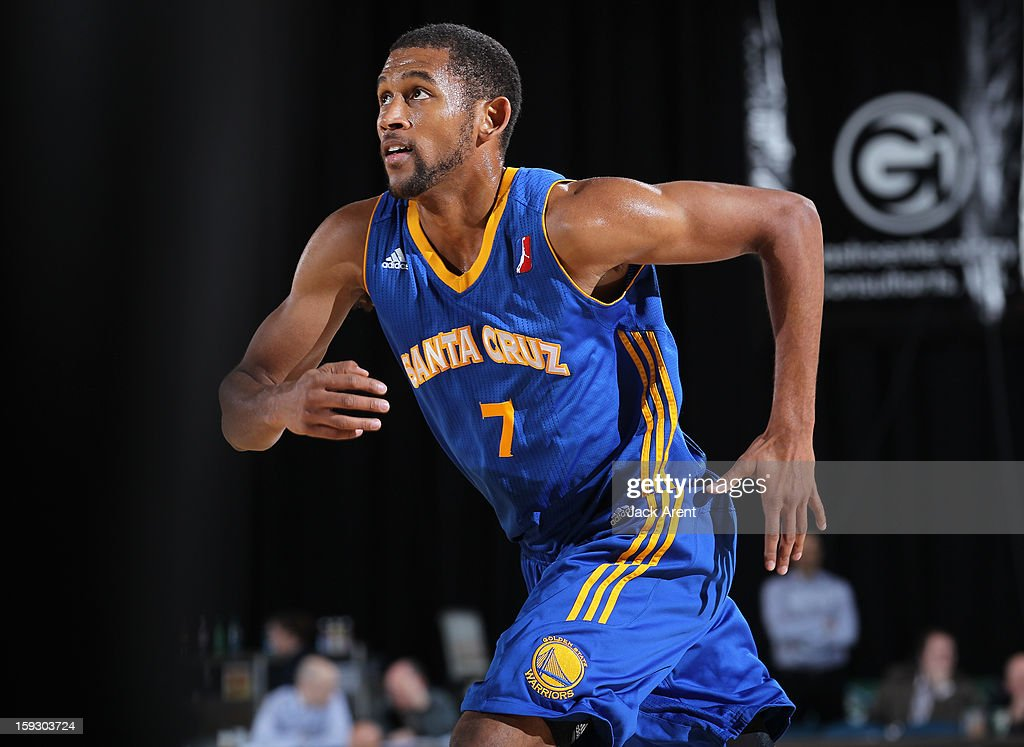 Justin Johnson #7 of the Santa Cruz Warriors runs to rebound the ball against the Canton Charge during the 2013 NBA D-League Showcase on January 10, 2013 at the Reno Events Center in Reno, Nevada.