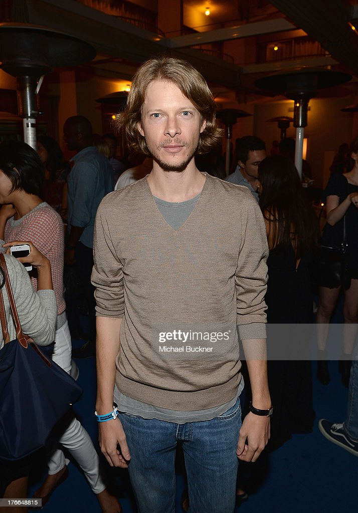 Justin Kern attends Warby Parker's store opening in The Standard, Hollywood on August 15, 2013 in Los Angeles, California.