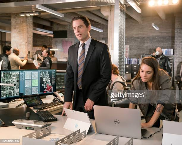 Justin Kirk and Caitlin Stasey in APB coming soon to FOX