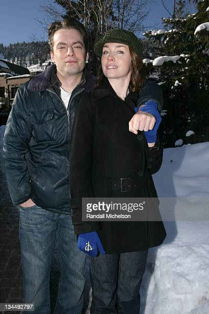 Justin Kirk and Julianne Nicholson during 2006 Sundance Film Festival 'Puccini For Beginners' Outdoor Portraits in Park City Utah United States
