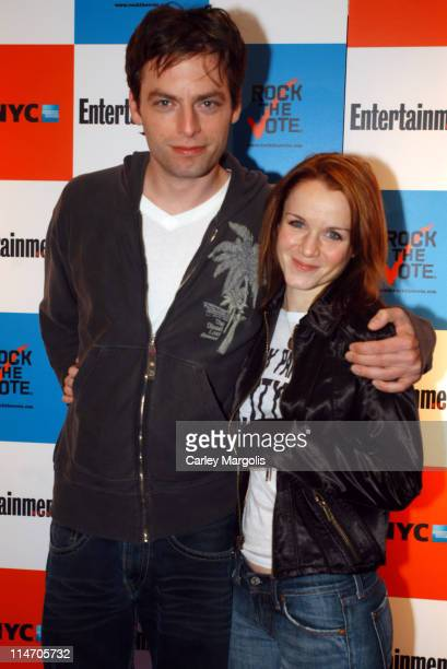Justin Kirk and Kate Reinders during Entertainment Weekly and 'Rock the Vote' Host LISTEN2THIS Live with Performance by The Donnas at Ruby Falls in...