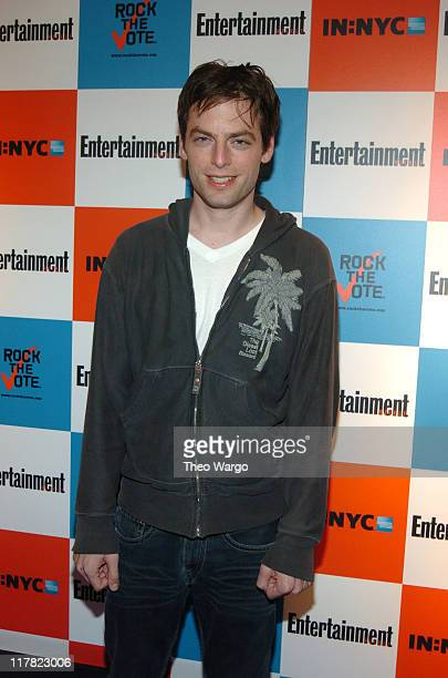 Justin Kirk during Listen2This Entertainment Weekly and Rock The Vote Host PreElection Bash at Ruby Falls in New York City New York United States