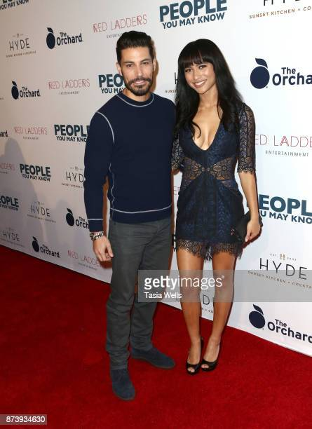 Justin Klosky and Andrea LeBlanc at the premiere of The Orchard's 'People You May Know' at The Grove on November 13 2017 in Los Angeles California