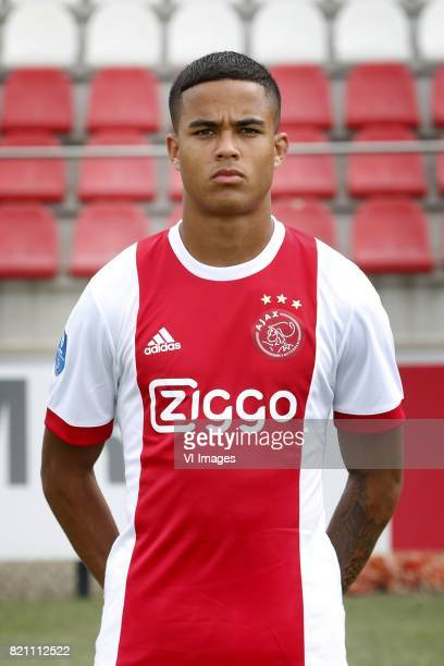 Justin Kluivert during the team presentation of Ajax on July 22 2017 at the at the Toekomst in Amsterdam The Netherlands