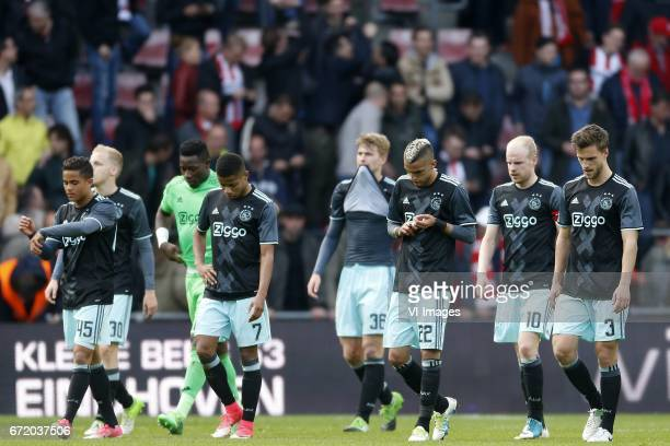 Justin Kluivert of Ajax Donny van de Beek of Ajax Andre Onana of Ajax David Neres of Ajax Matthijs de Ligt of Ajax Hakim Ziyech of Ajax Davy Klaassen...
