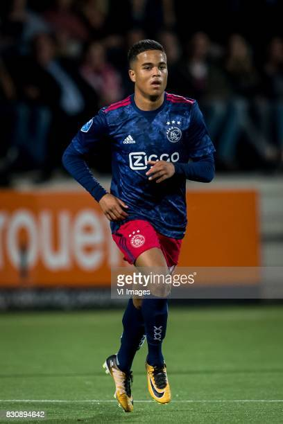 Justin Kluivert of Ajax during the Dutch Eredivisie match between Heracles Almelo and Ajax Amsterdam at Polman stadium on August 12 2017 in Almelo...
