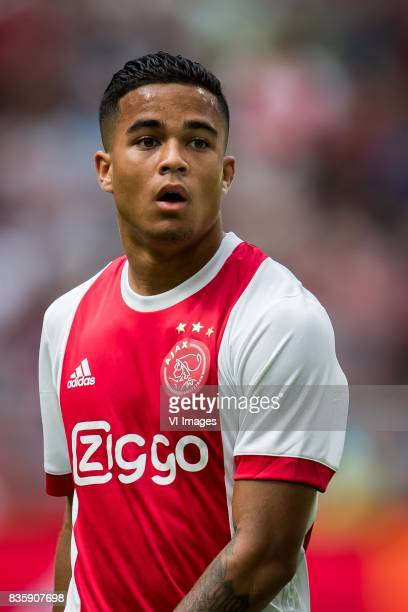 Justin Kluivert of Ajax during the Dutch Eredivisie match between Ajax Amsterdam and FC Groningen at the Amsterdam Arena on August 20 2017 in...