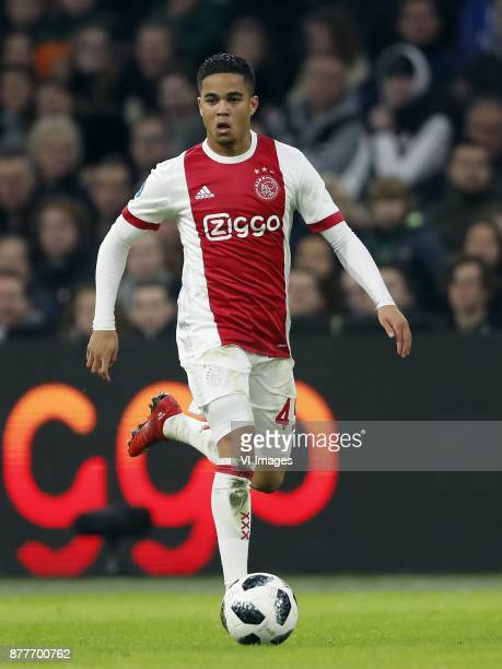 Justin Kluivert of Ajax during the international friendly match between Ajax Amsterdam and Borussia Mönchengladbach at the Amsterdam Arena on...