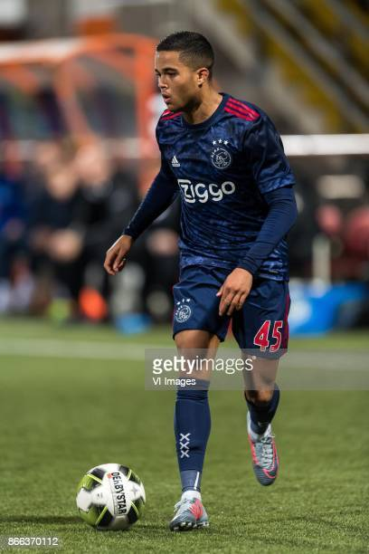 Justin Kluivert of Ajax during the Second Round Dutch Cup match between De Dijk and Ajax Amsterdam at Kras stadium on October 25 2017 in Volendam The...