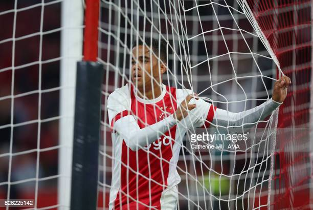 Justin Kluivert of Ajax during the UEFA Champions League Qualifying Third Round match between Ajax and OSC Nice at Amsterdam Arena on August 2 2017...