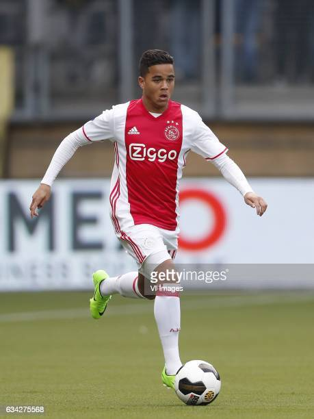 Justin Kluivert of Ajaxduring the Dutch Eredivisie match between Roda JC Kerkrade and Ajax Amsterdam at the Parkstad Limburg stadium on February 05...
