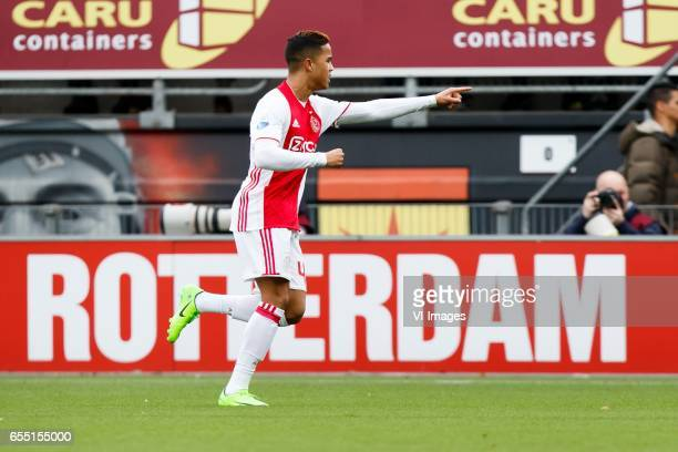 Justin Kluivert of Ajaxduring the Dutch Eredivisie match between sbv Excelsior Rotterdam and Ajax Amsterdam at Woudenstein stadium on March 19 2017...