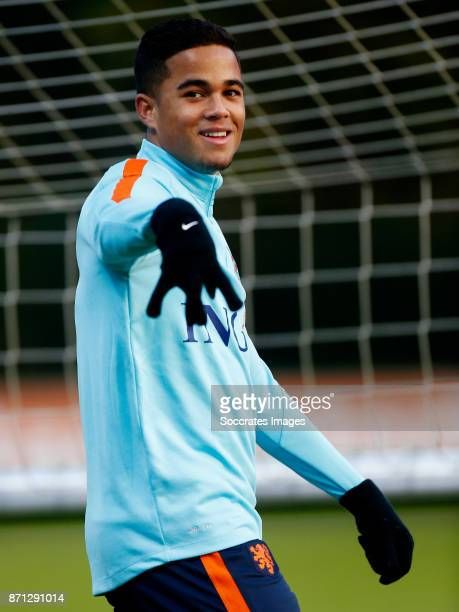 Justin Kluivert of Holland U21 during the match between Training Holland U21 at the KNVB Campus on November 7 2017 in Zeist Netherlands