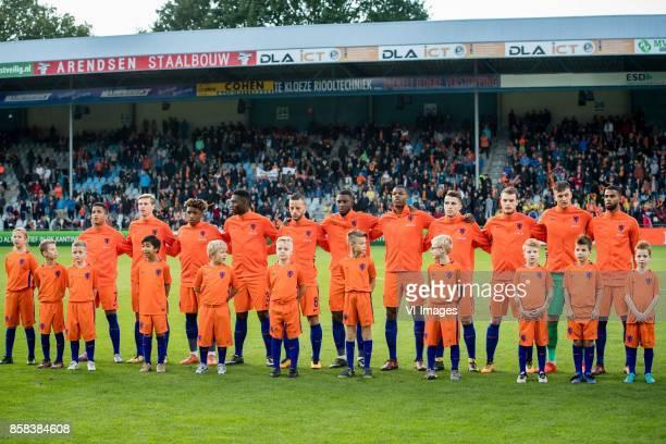 Justin Kluivert of Jong Oranje Frenkie de Jong of Jong Oranje Steven Bergwijn of Jong Oranje Timothy FosuMensah of Jong Oranje Bart Ramselaar of Jong...