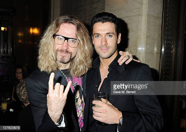 Justin Lee Collins and Shayne Ward attend an after party celebrating Press Night of 'Rock Of Ages The Musical' at the Freemasons Hall on September 28...