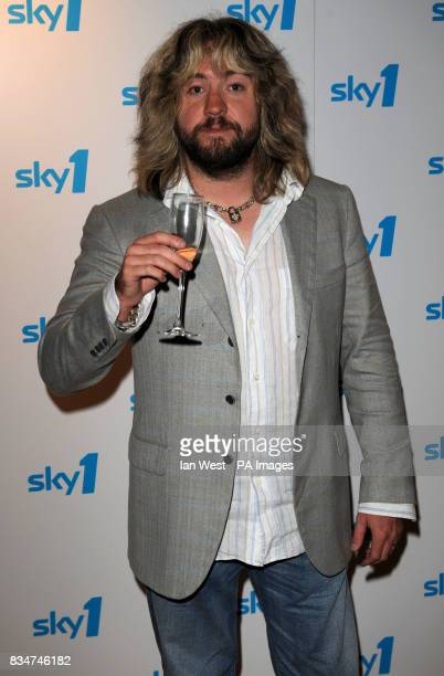 Justin Lee Collins arrives at the launch of Sky One's new look and Autumn line up at Shoreditch Town Hall in London
