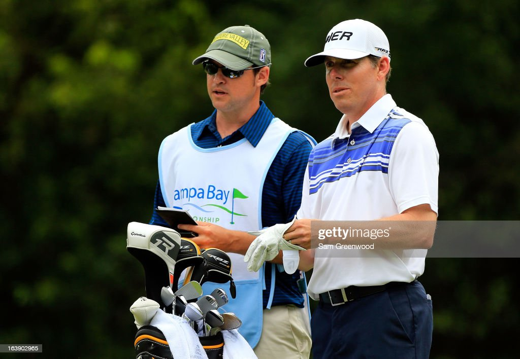 <a gi-track='captionPersonalityLinkClicked' href=/galleries/search?phrase=Justin+Leonard&family=editorial&specificpeople=194762 ng-click='$event.stopPropagation()'>Justin Leonard</a> plays a shot on the 9th hole during the final round of the Tampa Bay Championship at the Innisbrook Resort and Golf Club on March 17, 2013 in Palm Harbor, Florida.