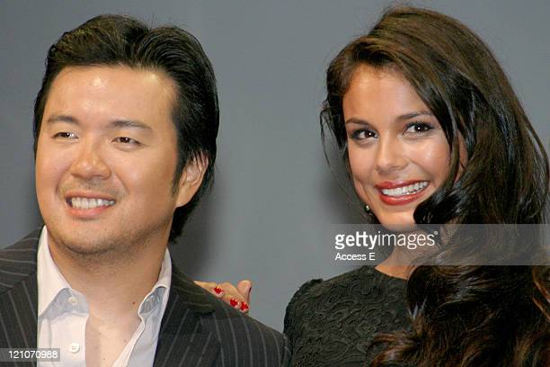 Justin Lin and Nathalie Kelley during 'The Fast and the Furious Tokyo Drift' Tokyo Premiere Stage Greeting at Tokyo International Forum in Tokyo Japan