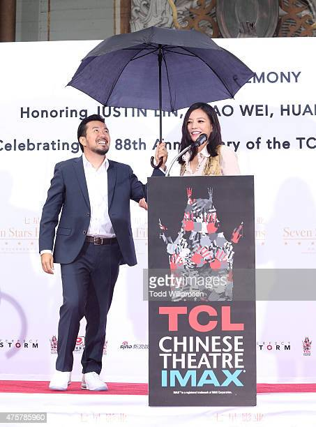 Justin Lin and Zhao Wei attend the 88th Birthday Of TLC Chinese Theater IMAX Honoring Justin Lin Zhao Wei And Huang Xiaoming with Iconic Imprint...