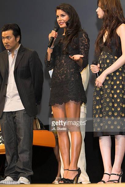 Justin Lin Nathalie Kelley and Keiko Kitagawa during 'The Fast and the Furious Tokyo Drift' Tokyo Premiere Stage Greeting at Tokyo International...