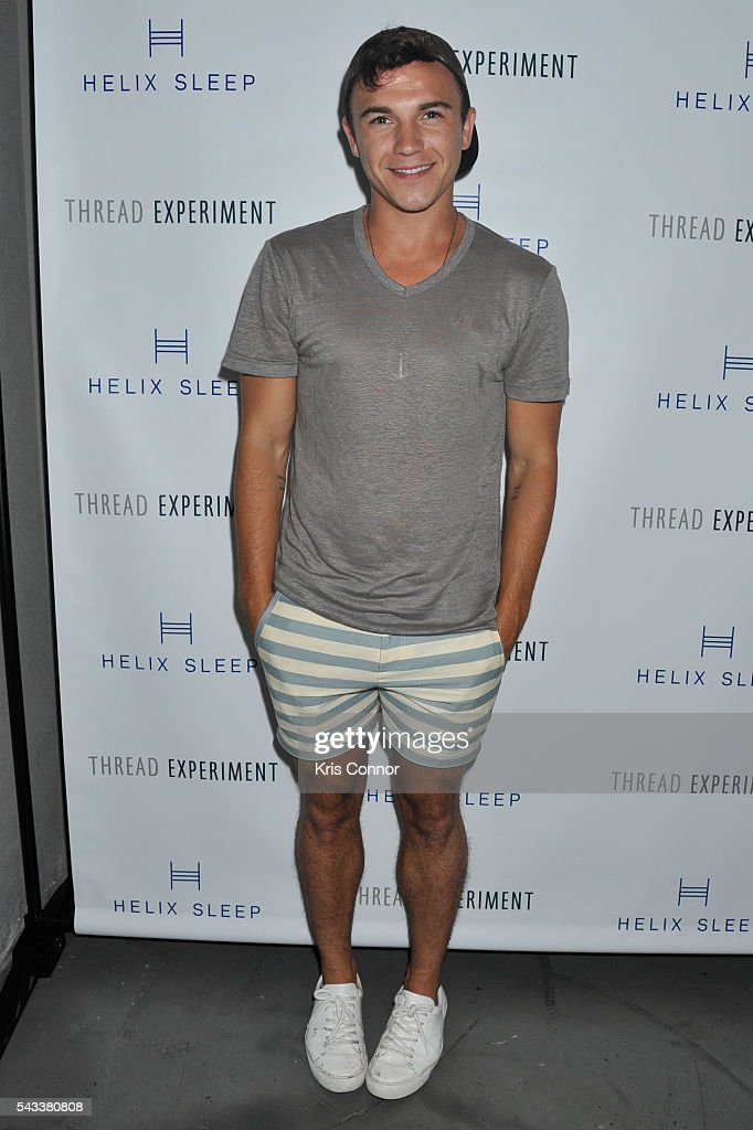 Justin Livingston poses during the 'Let's Get Under The Covers: An Evening Of Cocktails And Change' event at Hotel Americano on June 27, 2016 in New York City.