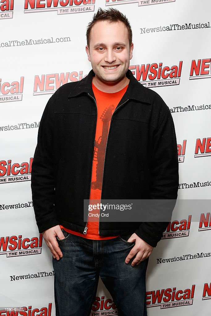 Justin Luke attends Cheri Oteri's debut in 'Newsical The Musical' on December 9, 2012 in New York City.