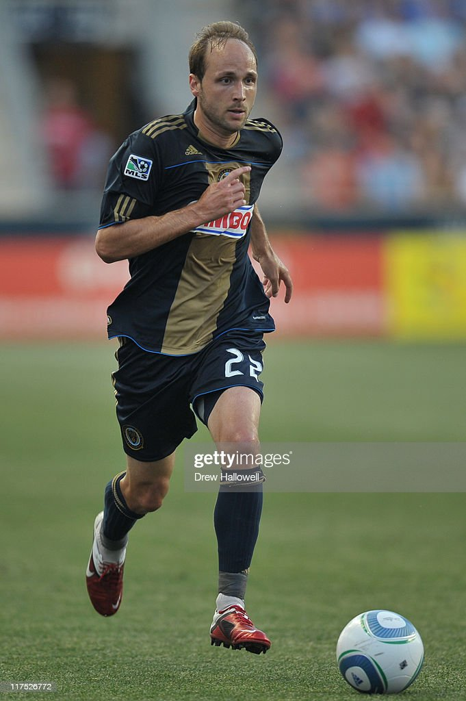 Justin Mapp of the Philadelphia Union in action during the game against Sporting Kansas City at PPL Park on June 22 2011 in Chester Pennsylvania