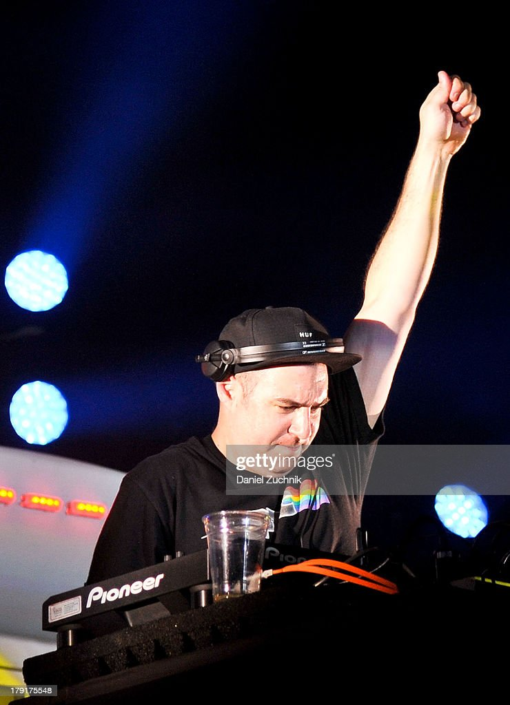 Justin Martin performs during Electric Zoo 2013 at Randall's Island on August 31, 2013 in New York City.