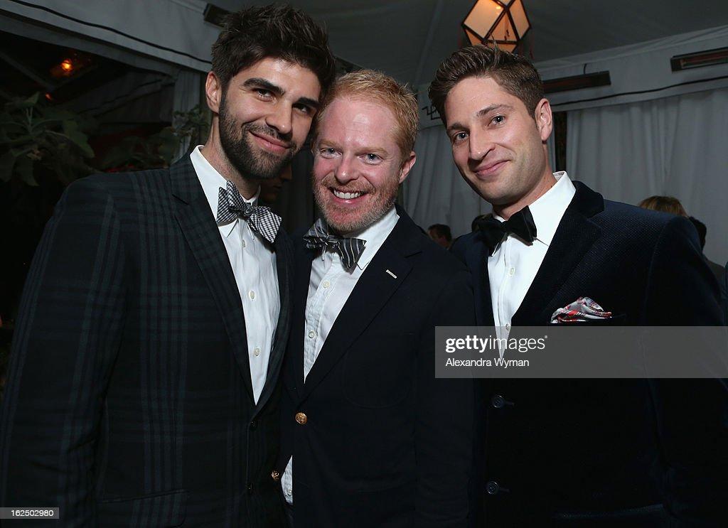 Justin Mikita, actor <a gi-track='captionPersonalityLinkClicked' href=/galleries/search?phrase=Jesse+Tyler+Ferguson&family=editorial&specificpeople=633114 ng-click='$event.stopPropagation()'>Jesse Tyler Ferguson</a> and Grey Goose Global Ambassador Joe McCanta attend GREY GOOSE Pre-Oscar Party hosted by Michael Sugar, Doug Wald, Nathan Kahane and Warren Zavala at Chateau Marmont on February 23, 2013 in Los Angeles, California.