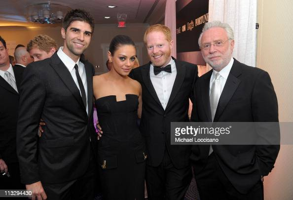 Justin Mikita actress Mila Kunis actor Jesse Tyler Ferguson and CNN Correspondent Wolf Blitzer attend the TIME/CNN/People/Fortune White House...