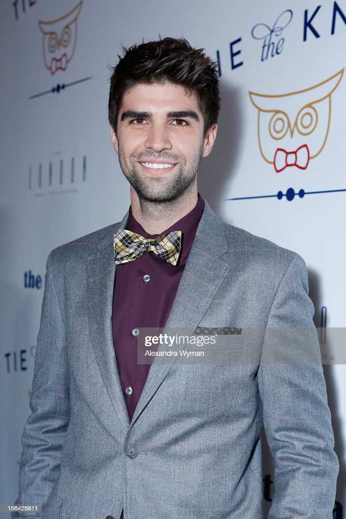 Justin Mikita at the launch of Tie The Knot, a charity benefitting marriage equality through the sale of limited edition bowties available online at TheTieBar.com/JTF held at The London West Hollywood on November 14, 2012 in West Hollywood, California.