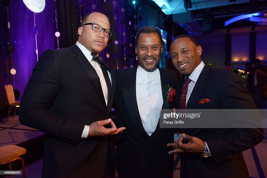 Justin Miller, Dr. John Silvanus Wilson Jr., and Christopher Campbell attends 26th Annual 'A Candle in the Dark' Gala and Inaugural Ball at The Hyatt Regency Atlanta on February 15, 2014 in Atlanta, Georgia.