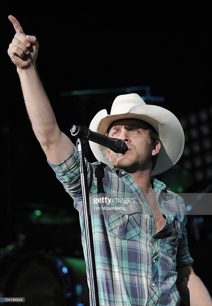 Justin Moore performs in support of his debut release at Shoreline Amphitheatre on September 15, 2010 in Mountain View, California.
