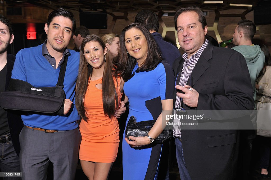 Justin Nappi, Leah Lauren, Carol Nappi and Sam Nappi attend the 'Adult World' premiere after party during the 2013 Tribeca Film Festival at Darby Downstairs on April 18, 2013 in New York City.