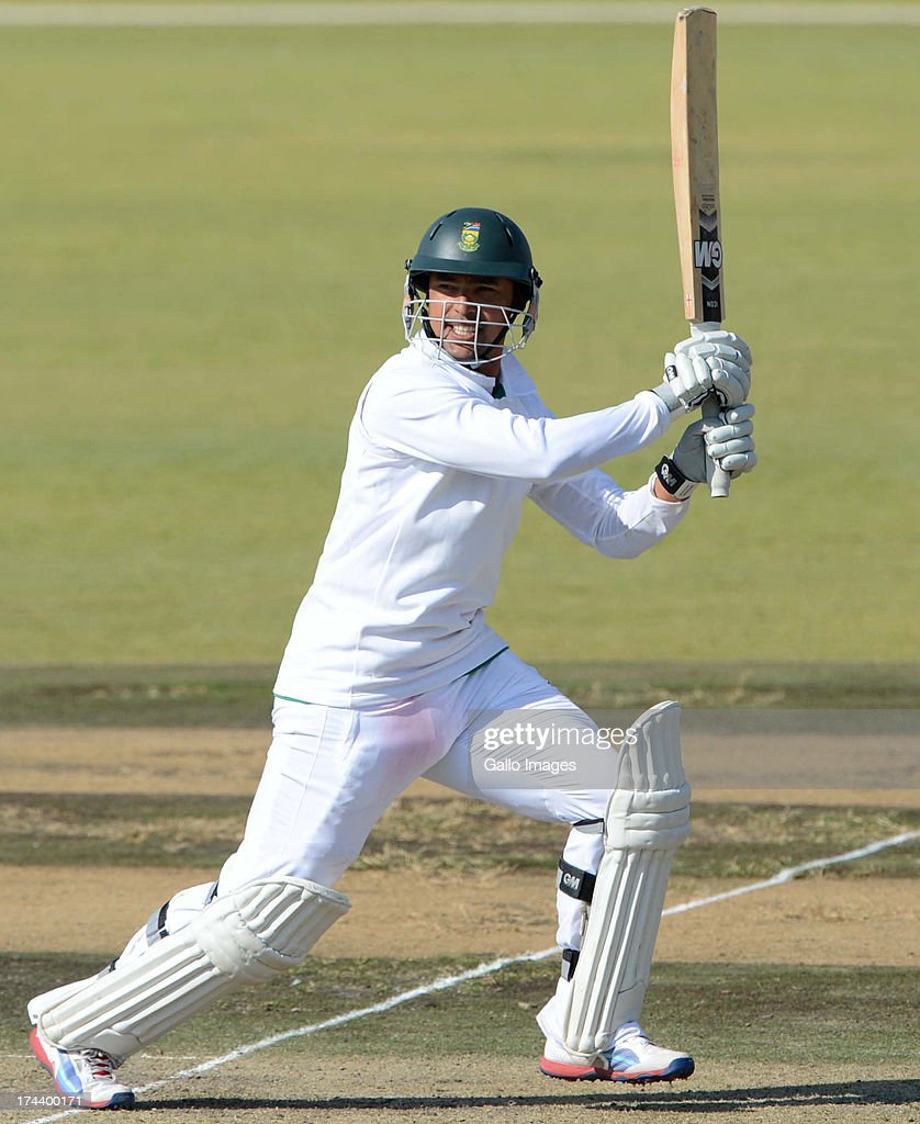 Justin Ontong of South Africa A during day 2 of the 1st Test match between South Africa A and Australia A at Tuks Oval on July 25, 2013 in Pretoria, South Africa.