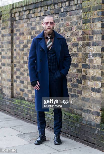 Justin O'Shea after the Burberry Prorsum show during London Collections Men AW16 on January 11 2016 in London England